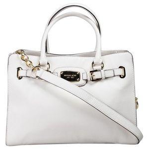 Michael Kors Hamilton Bag in Cream Leather